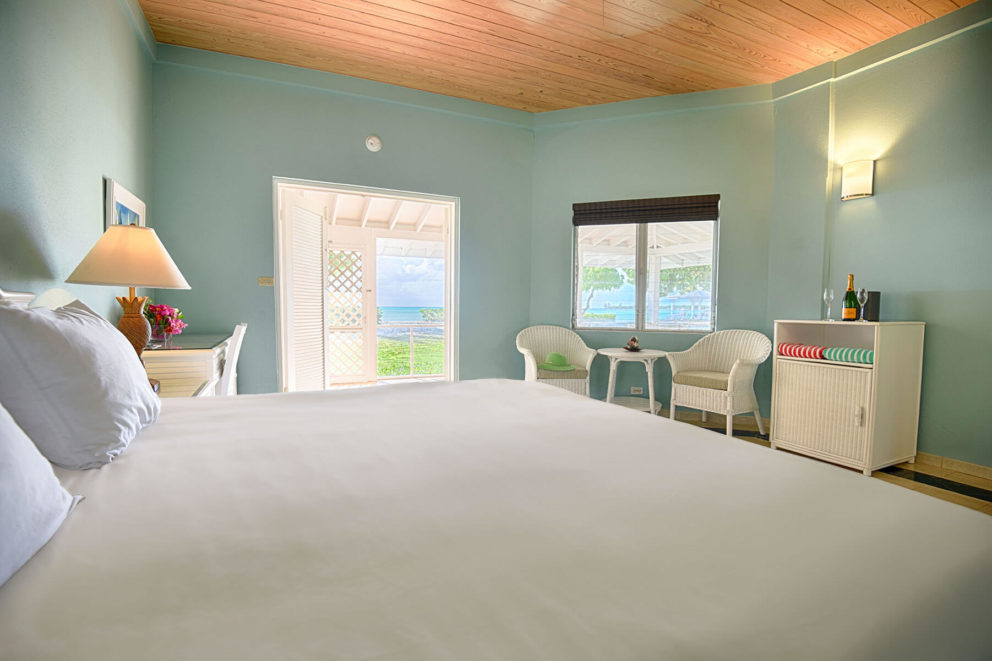 Beachfront bungalow bedroom