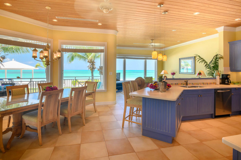 Beachfront villa kitchen
